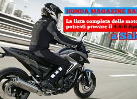 Honda 2014 le foto della prova Honda Magazine Salerno