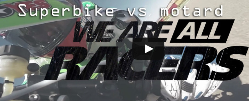 Superbike vs motard: il video della sfida incredibile!